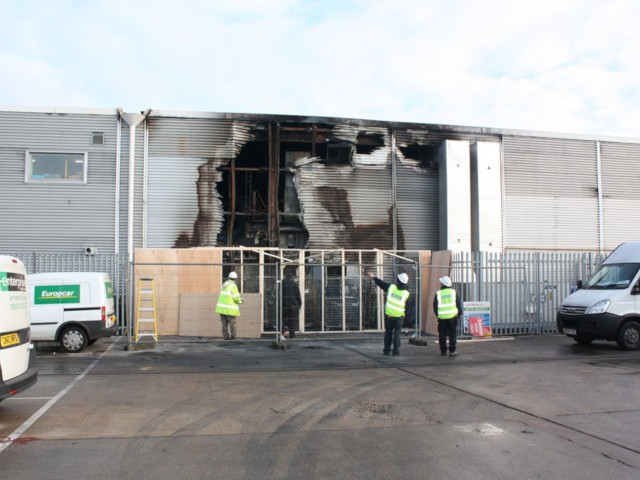 Contamination in a business park