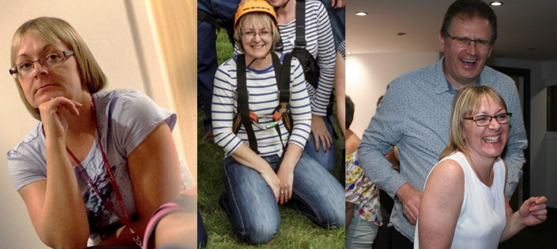 Helaine Addison, Office Manager of Hawkins Cambridge, is pictured in three photographs from her career