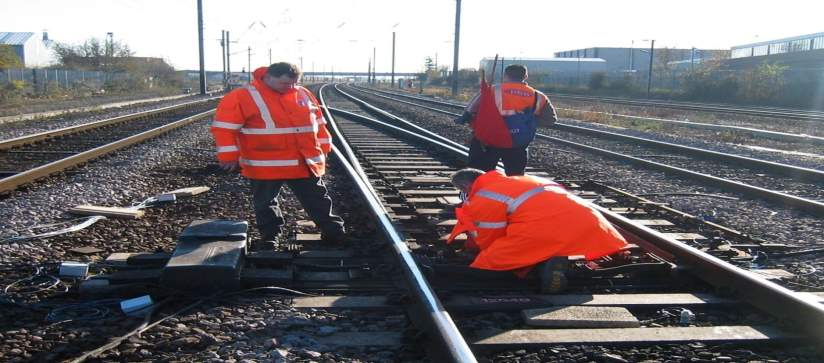 Rod Newbery and team at work on the East Coast Mainline